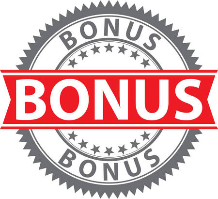 Bonus sign, certified badge, vector illustration Illustration