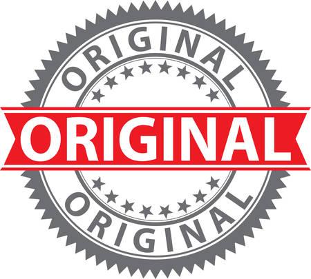 Original stamp, original badge, vector illustration 向量圖像