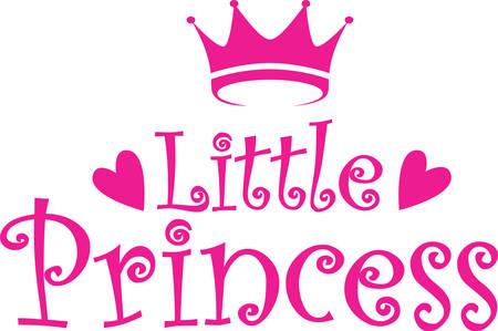 Little princess label, vector illustration