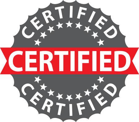 Certified stamp, certified badge, vector illustration Illustration