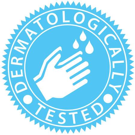 Dermatologically tested label, vector illustration