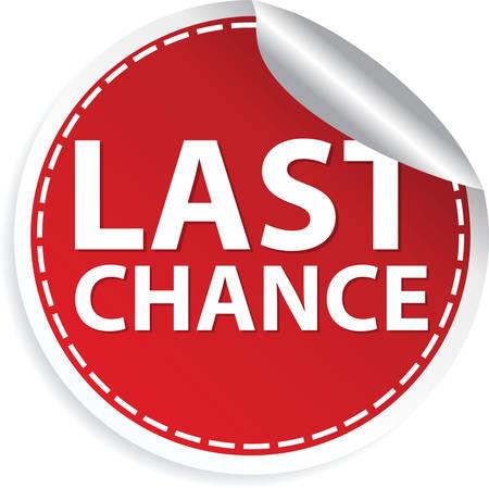 Last chance red sticker, vector illustration