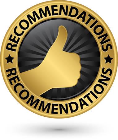 Best recommendation golden label, vector illustration Vector Illustration