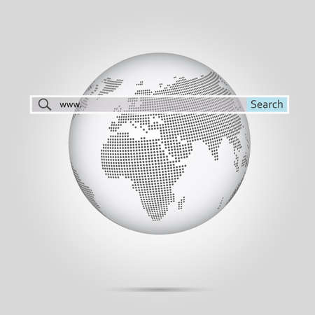 Monochrome globe with halftone dotted world map vector illustration monochrome globe with halftone dotted world map vector illustration stock photo picture and royalty free image image 77213023 gumiabroncs Images