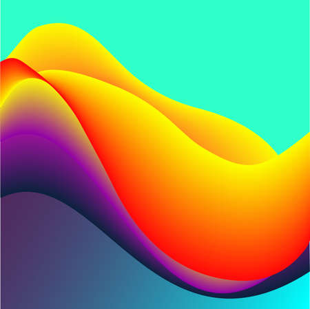 Fluid Colors with Red Yellow Violet Gradient Abstract Background. Stock Photo