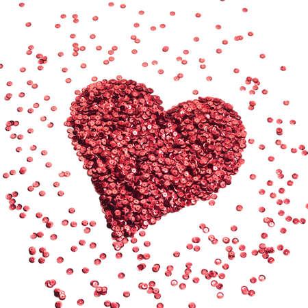 sequin: Heart paillette
