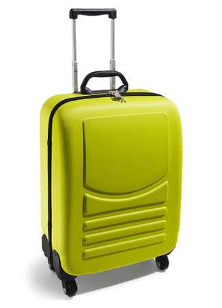 wheeled: green wheeled suitcase