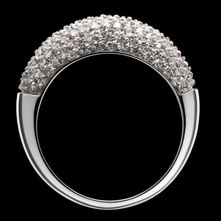 silver jewelry: Diamond ring
