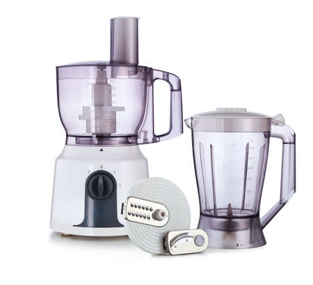 food processor: Food processor isolated on white  Stock Photo