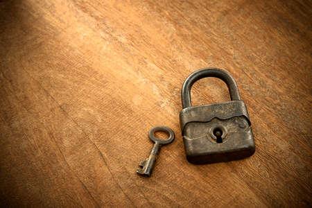 antique padlock photo