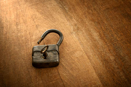 lock: antique padlock Stock Photo