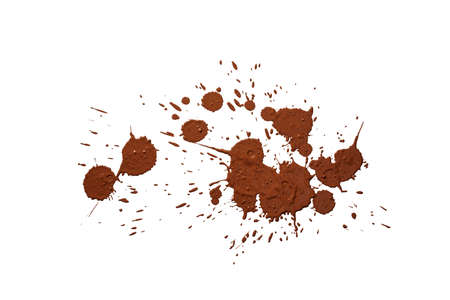 mud splatter: mud drops