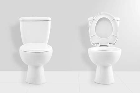 Fehér WC csésze Stock fotó