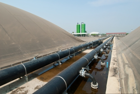 biogas plant, Thailand  Stock Photo