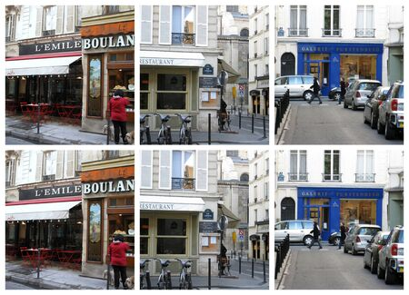Parisian street collage 4