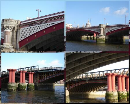 blackfriars bridge: London�s Blackfriars Bridge   pillars