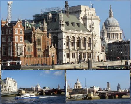 Alongside river Thames