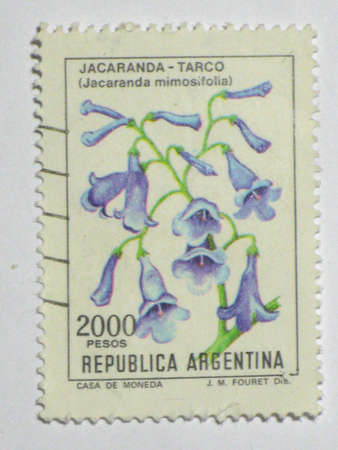 Jacaranda flower stamp- circa 1983