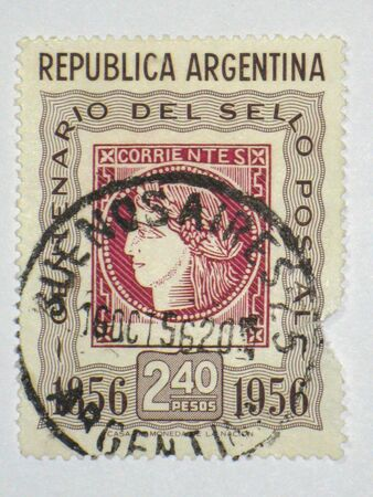 Corrientes stamp - circa 1956