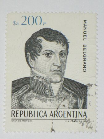 Manuel Belgrano stamp - circa 1984