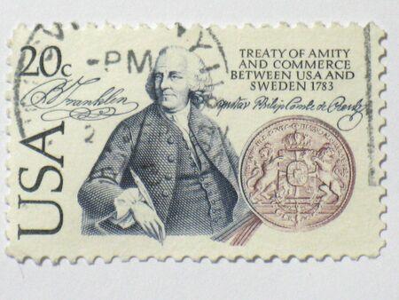 amity: US amity   commerce stamp, circa 1983 Stock Photo