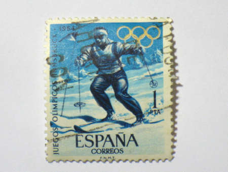 Spanish Olympic Games stamp, circa 1964