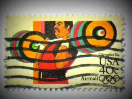 Amerikaanse Olympische Spelen stempel, circa 1984