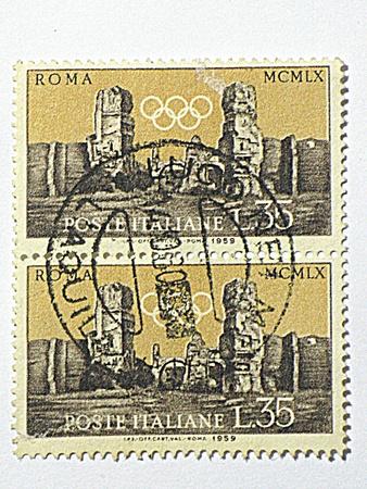Italiaanse Olympische Spelen postzegels, circa 1953