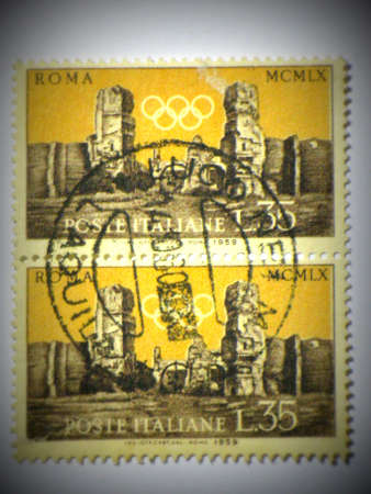 olympic games: Italian Olympic Games stamps, circa 1953