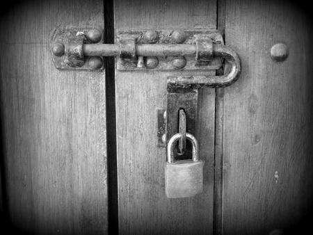 Padlock and handle, (Holga style) photo