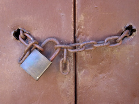 Padlock and chain photo