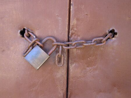 Padlock and chain photo