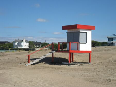 Lifeguard tower. photo
