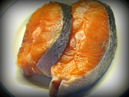 Sliced salmon (Lomo style) Stock Photo - 14576869