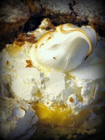pie de limon: Lemon Pie (estilo Lomo) Foto de archivo