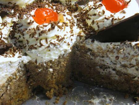 Room en kersen taart