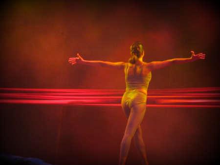 lyrical dance: Ballet dancer (print style)