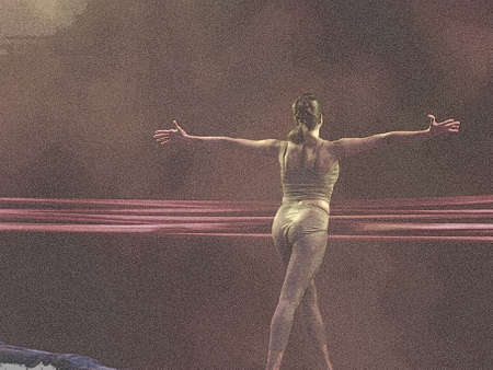Ballet dancer (silk paper) photo
