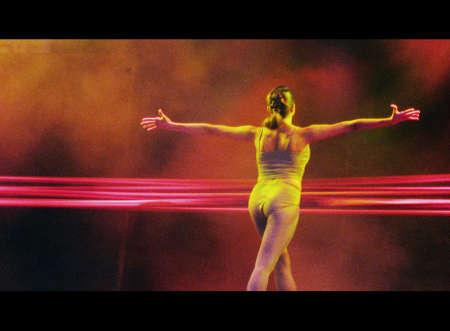 lyrical dance: Ballet dancer (cinemascope) Stock Photo