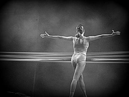 Ballet dancer (BW + HDR) photo