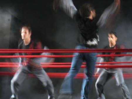 lyrical dance: Male dancers Stock Photo