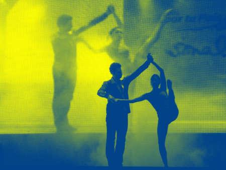 lyrical dance: Dancer�s silhouette (2 tones)