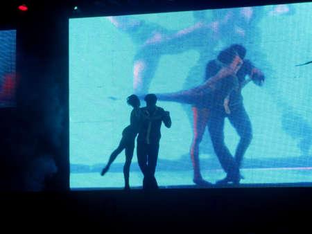 Dancer�s silhouette photo