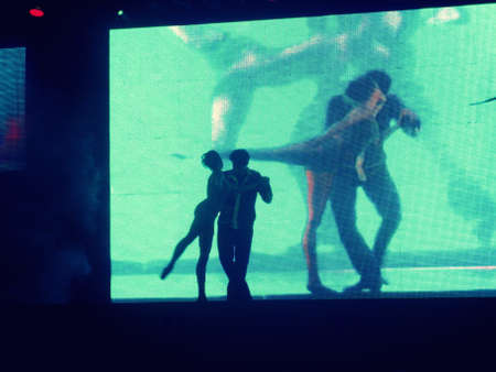 lyrical dance: Dancer�s silhouette (green)