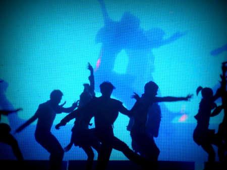 lyrical dance: Dancer&acute,s silhouette (Lomo style) Stock Photo