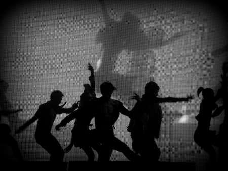 lyrical: Dancer&acute,s silhouette (blackwhite)