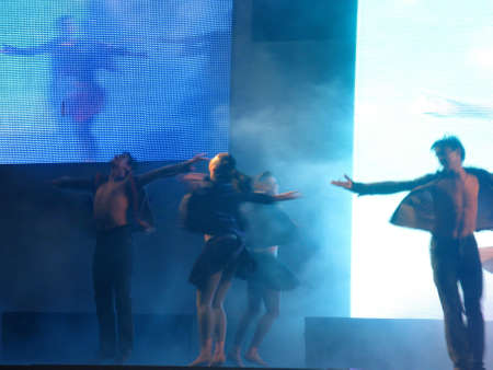 lyrical dance: Dancer�s silhouette