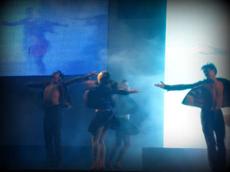 lyrical dance: Dancers silhouette (print style)