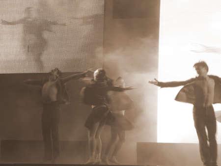 lyrical dance: Dancer�s silhouette (sepia)