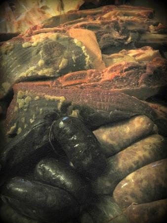 Barbecue vlees (afdruk)